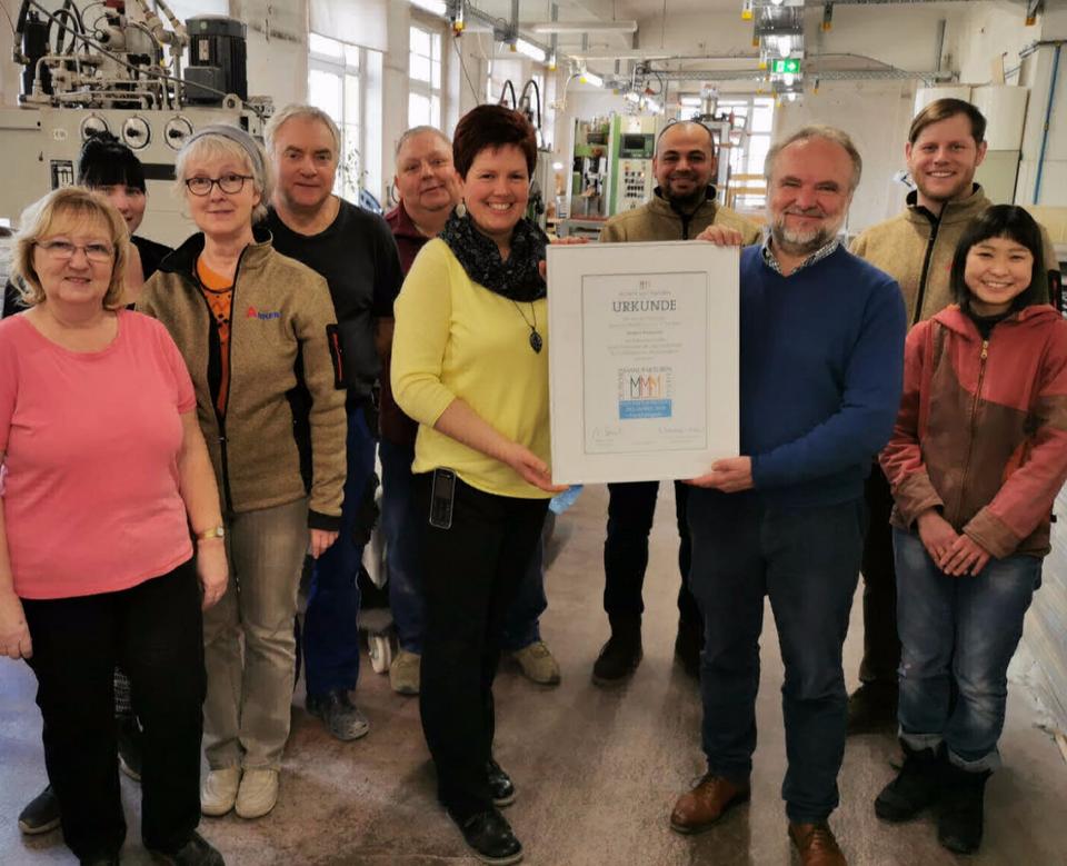 Der Verband Deutsche Manufakturen e. V. verleiht Urkunde an die Ankerstein GmbH