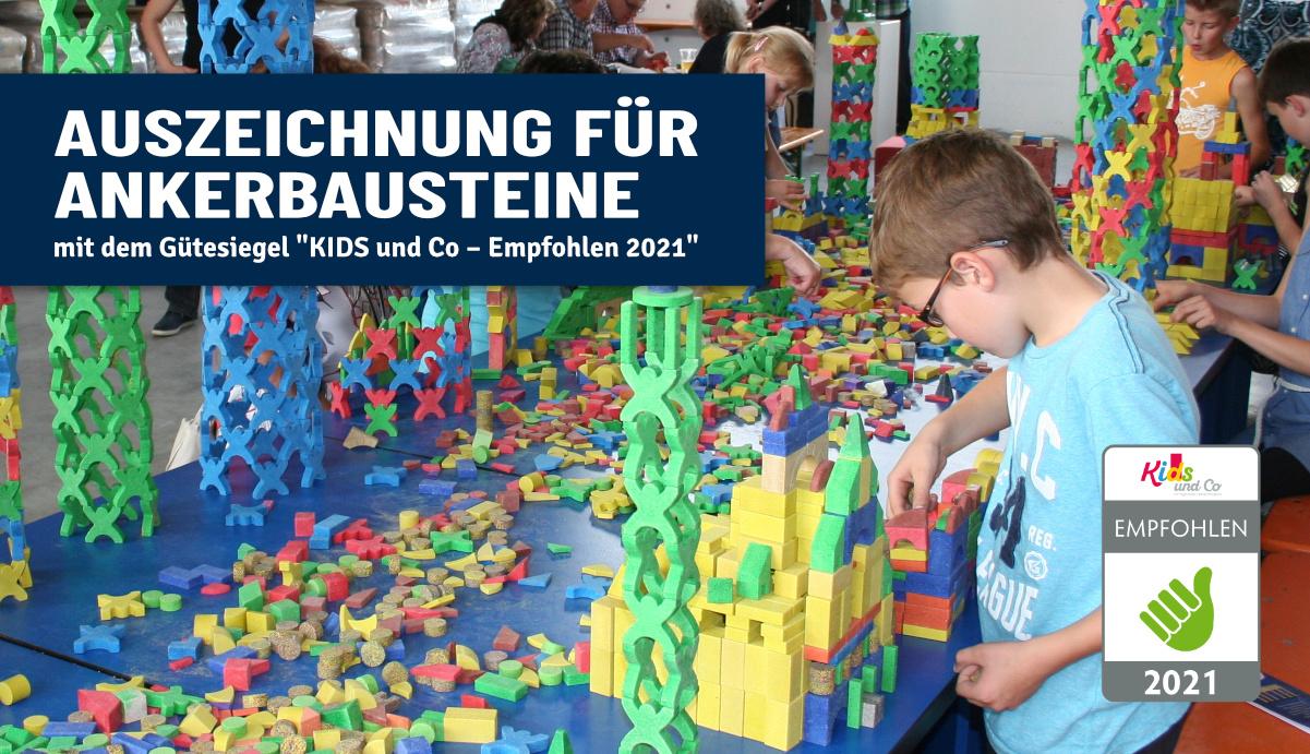 """Güte-Siegel """"KIDS und Co – Empfohlen 2021"""""""